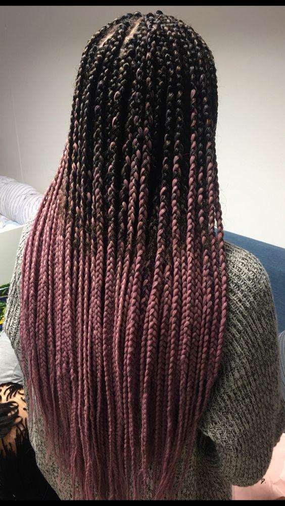 38 Ombre Pink Box Braids
