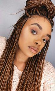 pretty brown box braids