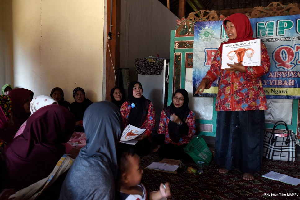 Women join one of Aisyiyah's reproductive health training sessions.