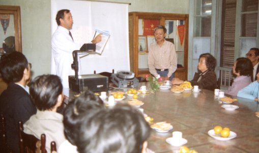 Phillip teaching in Vietnam.