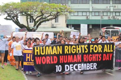 FWCC participating in a World Human Rights Day march in Suva. Photo: FWCC Facebook