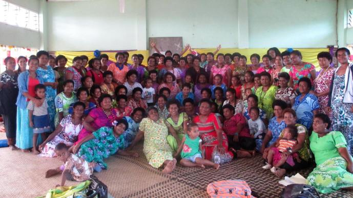 Koro villagers attending a Fiji Women's Crisis Centre workshop on Gender Based Violence. Photo: FWCC Facebook