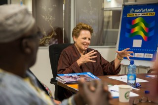 The international Rotarian polio advocacy group along with the Ethiopia National PolioPlus Committee Chair and Vice Chair visit the UNICEF offices. Addis Ababa, Ethiopia. ©UNICEF Ethiopia/2015/Sewunet