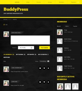 BuddyPress Activity Page