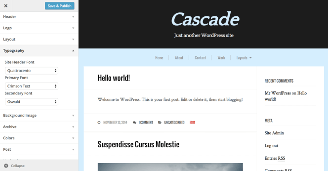 cascade-customizer