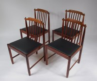 1950s Scandinavian styled rosewood dinner chairs with new ...