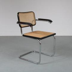 Marcel Breuer Cesca Chair With Armrests Serta Lift Canada 1901 3 130 1970s Dining In Chrome Plated Tubular Metal Frame Woven Rush Upholstery And Italy