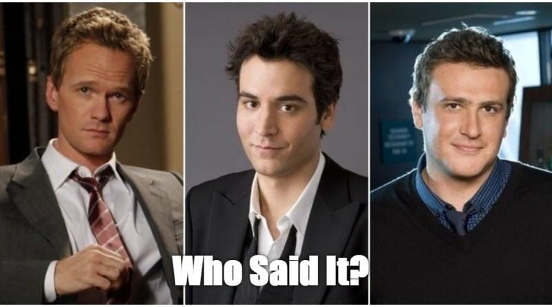 Ted, Barney, or Marshall