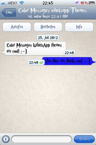 Isbf97 theme : Color Messages WhatsApp Theme (2/5)