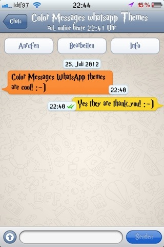Isbf97 theme : Color Messages WhatsApp Theme (3/5)