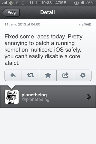 Planetbeing continues working on the iOs 6 jailbreak