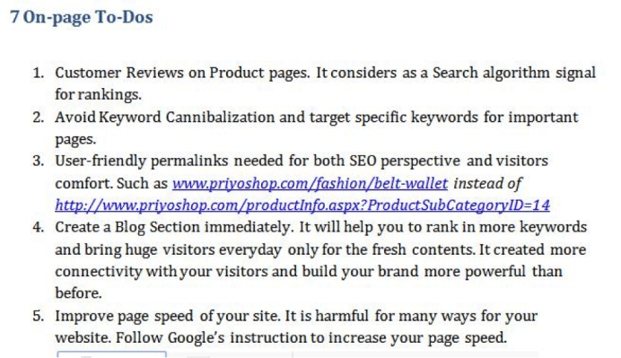 seo audit for ecommerce