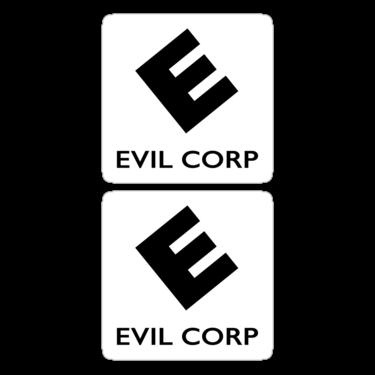 Evil Corp Stickers ×2 — DevStickers