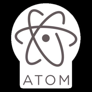 Atom Editor Sticker — DevStickers