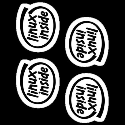 Linux Inside Stickers ×4 — DevStickers