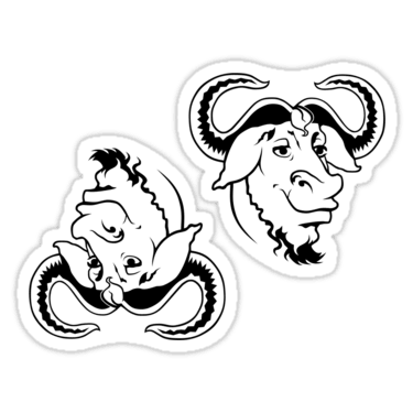 GNU Stickers and T-shirts — DevStickers