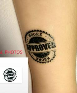 BDSM Temporary Tattoo: WHORE Approved