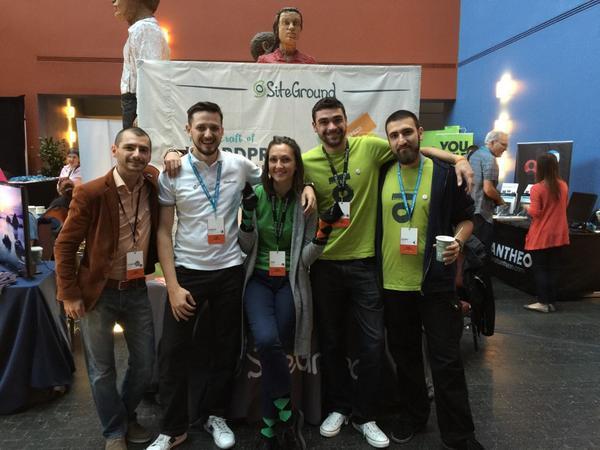 SiteGround's team at WordCamp San Francisco