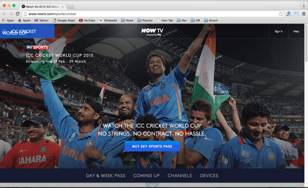 best sites to watch cricket world cup 2015 online for free - nowtv