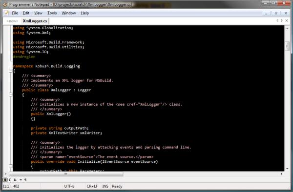 pnotepad - best HTML editors for web developers