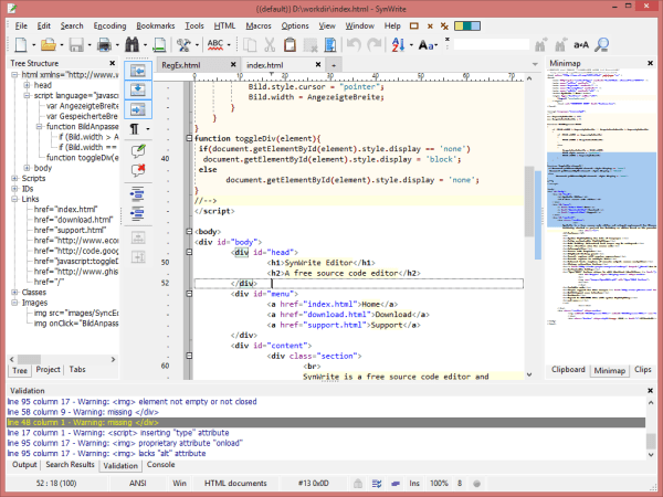 synwrite - best HTML editors for web developers