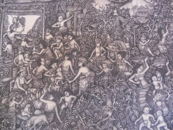 Dewa Nyoman Purwa - Batuan Painting Style Balinese Paintings Ubud