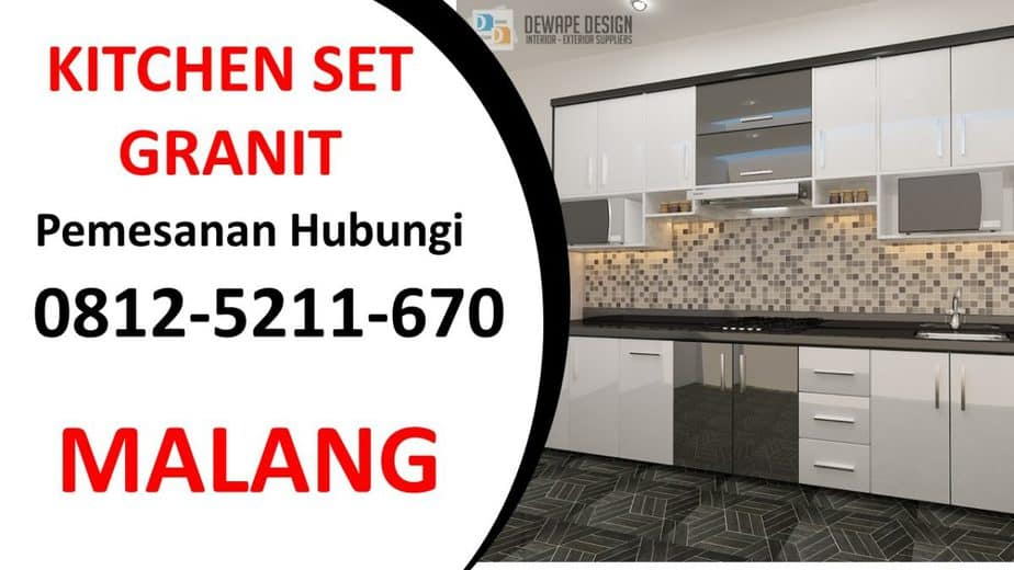 Jual Kitchen Set di Malang, Kitchen Set Granit Malang, Kitchen Set Anti rayap Malang