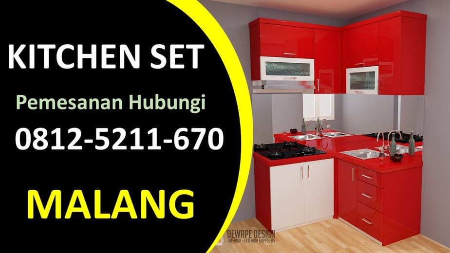 Jasa Pembuatan Kitchen Set HPL Malang, Kitchen Set Malang