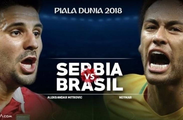 Piala Dunia 2018- Serbia Vs Brazil