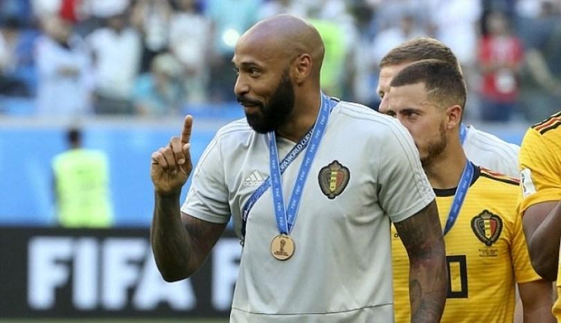 Thierry Henry saat menjadi menajer belgia