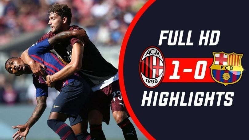 Hasil Turnamen ICC- AC Milan vs Barcelona- Skor 1-0