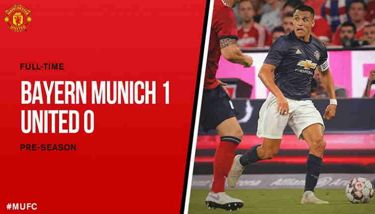 Munich vs Manchester United, Skor 1-0