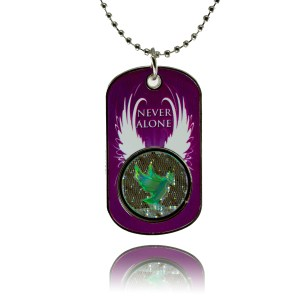 """Never Alone"" NanoBible Old Testament Dog Tag"