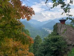 Yamadera near the Dewa Sanzan that Matsuo Basho visited composing The Narrow Road to The Deep North