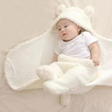 Fluffy Teddy Wrap - Cream