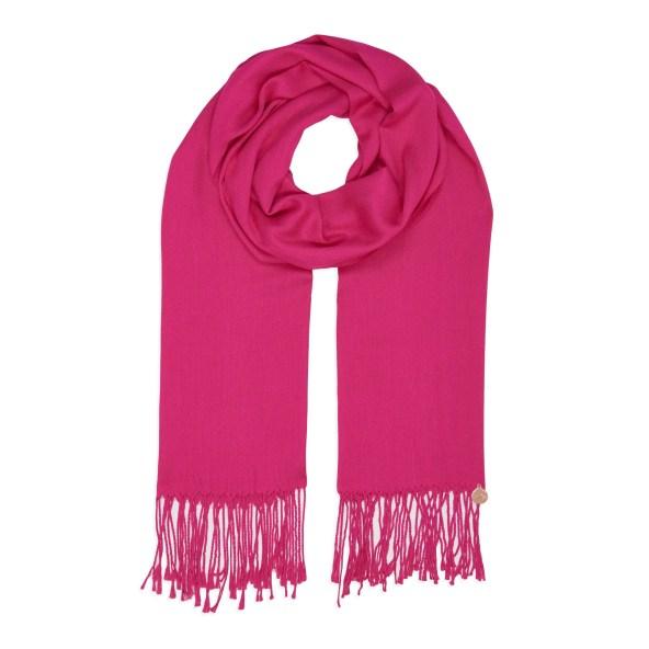 Pashmina Shawl - Soft-Touch - Shocking Pink