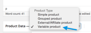 Woocommerce-variabele-producten-Selecting-variable-product