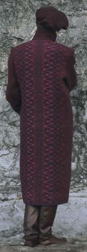 Long wool coat in Maroon