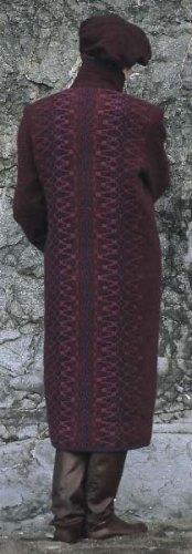 Long wool coat in Maroon