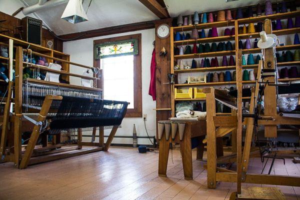 Looms in the studio