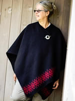 Short Wool Wrap with a touch of pattern.