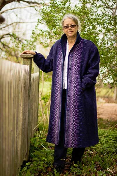 A-Line Wool Coat shown here in Hyacinth