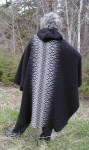 Long cape in Black & Grey
