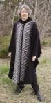 Long cape in Black & Grey