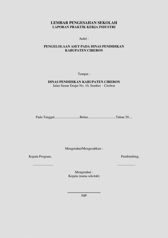 Contoh Laporan Prakerin SMK dengan Pembahasan (Lengkap)