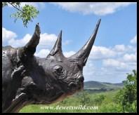 Black rhino statue at Centenary Centre