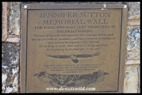 Jennifer Sutton Memorial Wall