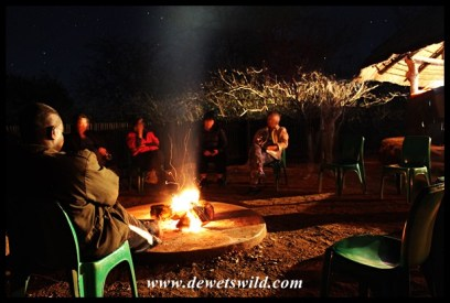 Chatting at the fireside