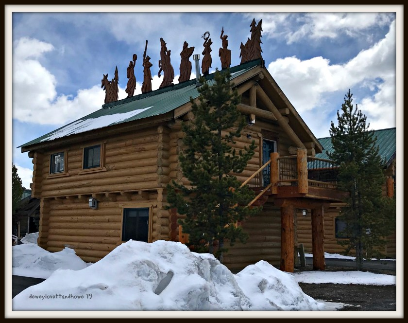 A cute example of just some of the accommodations available in West Yellowstone.