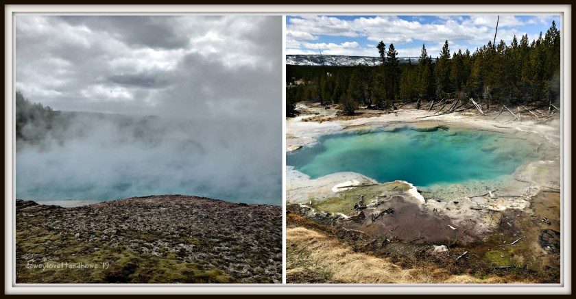 Demonstrate the difference in photo colours on a sunny day versus a cloudy day.
